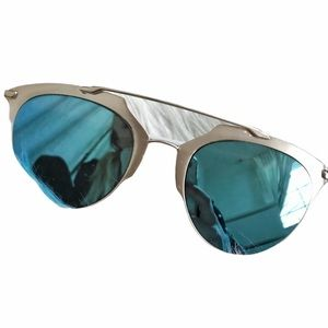 Blue Reflective Bar Sunnies
